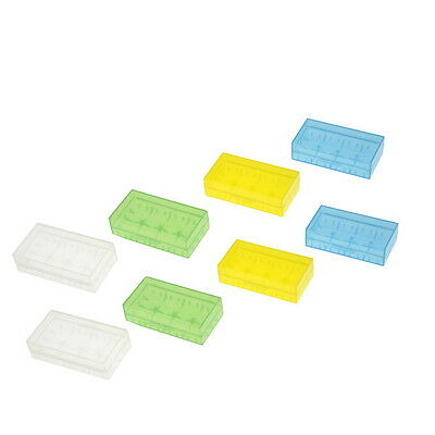 Nice 8 x Hard Plastic Battery Storage Case Box Holders For 18650 CR123A 16340