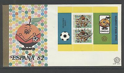 Indonesia 1982 Fdc Shp 123-6  World Championship Spain  + Blank