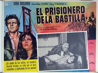 L149 A TALE OF TWO CITIES original Mexican movie  lobby card 1958 Dirk Bogarde
