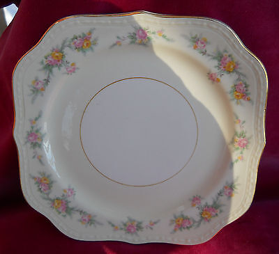 HOMER LAUGHLIN GEORGIAN COUNTESS CASHMERE FERNDALE SQUARE SALAD PLATE S EGGSHELL