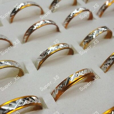 Wholesale jewelry lots 100pcs yellow aluminum alloy Rings New free shipping