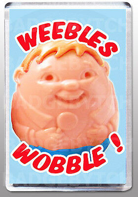 Weebles Wobble! Large Fridge Magnet - Retro Classic!