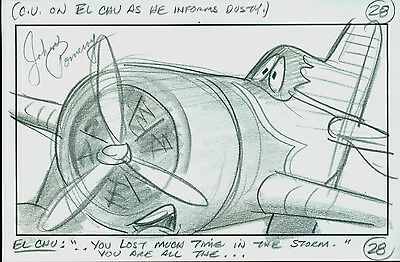Disney Planes signed cel storyboard Drawing