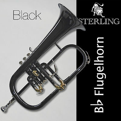 Black STERLING Bb Flugelhorn • With Case and Accessories • Brand New Flugel Horn