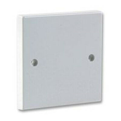 1 Gang Blanking Plate for Single Gang Back Box White Finish + Screws [006396]