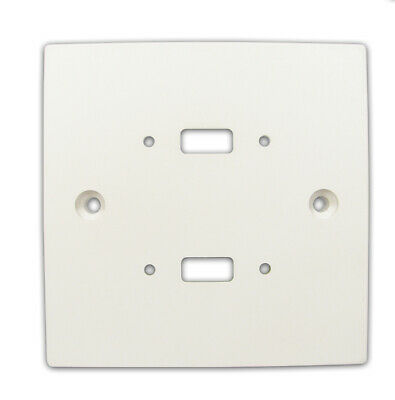 Pre Drilled Mounting Wall Faceplate for TWIN USB Panel Stub White [005664]