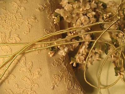 Creamy Light Gold Vine Cord ~ Doll Embroidery Ribbonwork Craft *