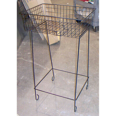 Standing Bakery Wire Grid Basket Stand Merchandise Display Stock No. 15563