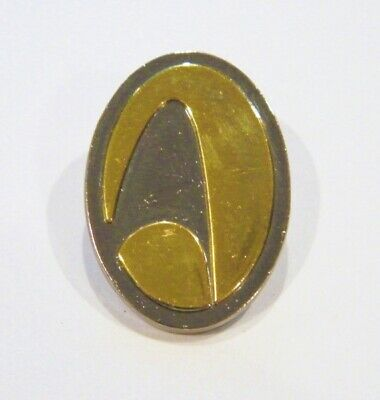 Star Trek Delta Shield Gold and Silver Command Logo Cloisonne Metal Oval Pin NEW