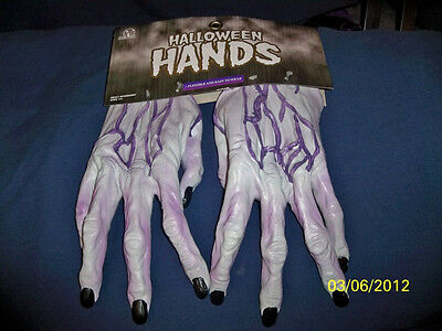 Adult Ghoul Zombie Hands Latex Gloves Costume Dress Accessory Mr156002