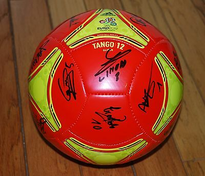 15bfcf8c1af4 2013 Gold Cup Martinique National Team Signed Soccer Ball 24+Sigs W/ Photo  Proof
