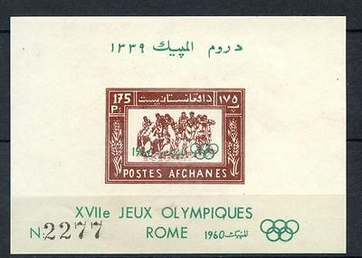Afghanistan 1960 SG#MS5484a Olympic Games MNH Imperf M/S #A32408