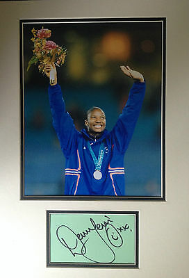 Denise Lewis - Olympic Gold Medallist - Signed Colour Photo Display