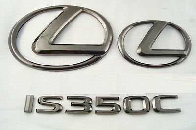 For: 2011-2013 Lexus Is350C Convertible Black Pearl Plated Emblem Kit