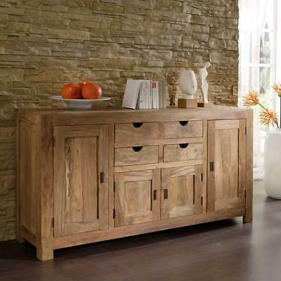 kommode yoga sheesham massivholz schrank sideboard landhausstil von wolf m bel eur 429 95. Black Bedroom Furniture Sets. Home Design Ideas