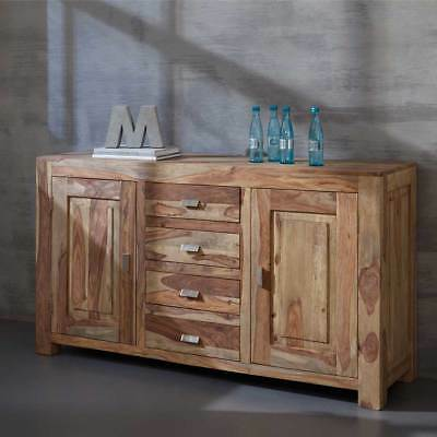 monumentales sideboard makassar aus sheesham 180cm kommode massiv holz schrank eur 559 95. Black Bedroom Furniture Sets. Home Design Ideas