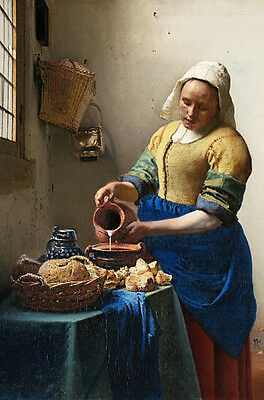 The Kitchen Maid - Milk Maid Large Fridge Magnet - Classic Vermeer!