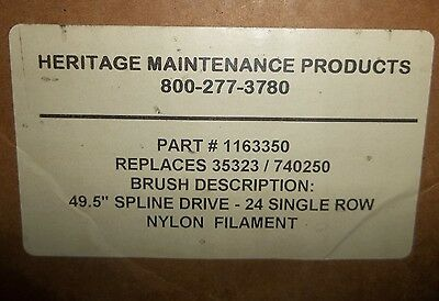 "Nib New Heritage 1163350 49.5"" Single Row Nylon Brush Tennant 35323/740250 (61)"