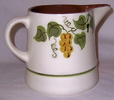 Vintage Stangl China Dinnerware Pottery GOLDEN GRAPE 7 Large 32oz Pitcher NICE!