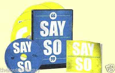 """Say So"" Joel Osteen - 4 CDs & 1 DVD & Booklet -31 Day Life Changing Devotional!"