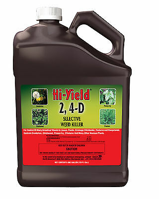 2, 4-D Broadleaf Weed Killer Herbicide Conc 1GL Lawns Ponds Drainage Ditchbanks