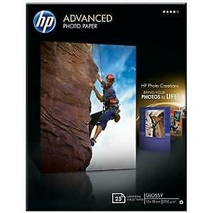 HP Advanced (13x18cm) 250g/m2 Glossy Photo Paper Borderless (White) Pack of 25
