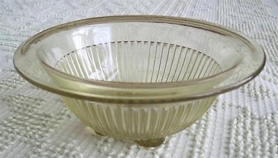 "Federal Glass Yellow 7.5"" Ribbed Mixing Bowl"