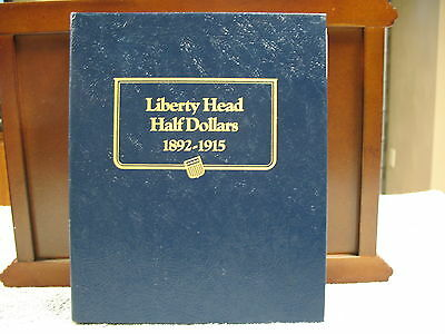 Barber Head Half Dollars-45 Specimens In Whitman Coin Book -Free Shipping