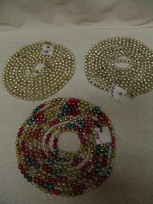 VINTAGE MULTI COLOR MERCURY GLASS BEAD CHRISTMAS TREE GARLAND, FREE SHIPPING # 2