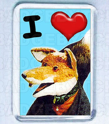 I LOVE (Heart) BASIL BRUSH - FRIDGE MAGNET - CLASSIC!