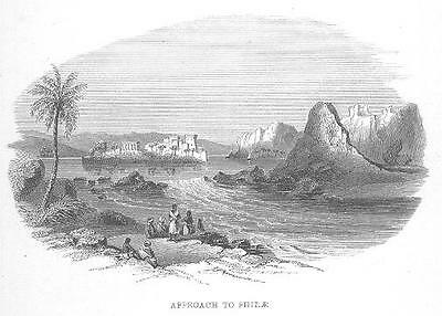 Egypt PHILAE EGYPTIAN Engraving OLD Antique Art Print