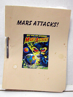 MARS ATTACKS Reprint Screenplay/Script- 107 pages (M1355)