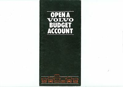Volvo Trucks Budget Account Promotional Leaflet