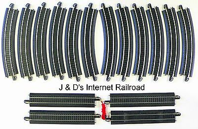 HO Scale Model Railroad Trains Layout  16 Piece Bachmann Steel EZ Track Oval