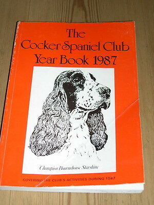 RARE COCKER SPANIEL CLUB DOG BOOK 1ST 1987 YEAR BOOK ILLUSTRATED 337 PAGES