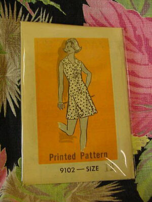 60s Mail Order Dress Pattern 9102 12/34 bust