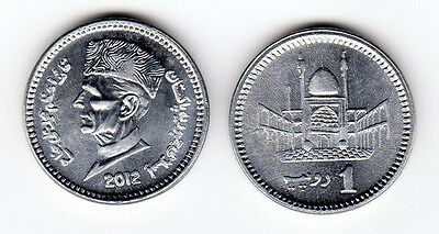 Pakistan 2004 & 2012 1 Rupee 2 Uncirculated Coin Set