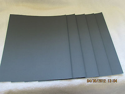 5 pc.Sandpaper Wet or Dry  1200 Grit Sand Paper 9X11 sheets