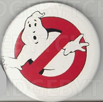 GHOSTBUSTERS ROUND FRIDGE MAGNET - 80's CLASSIC !