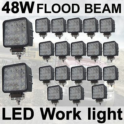 20X Square 48W Flood LED Work Light Lamp 12V 24V car boat Truck Driving UTE Jeep