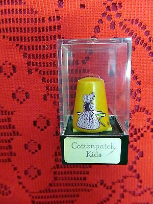 Very Rare Handpainted Limited Edition Thimble Carradus Cottonpatch Kids - Girl