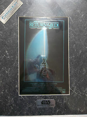 1994 Star Wars ChromArt Star Wars Return of the Jedi Movie Poster Style A  COA