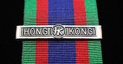Hong Kong Clasp for WW2 Canadian Volunteer Service Medal, Reproduction