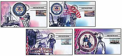 United States Merchant Marines First Day Of Issue Cover Set