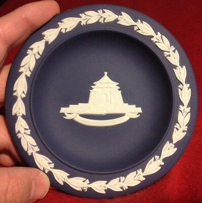 "4-3/4""Inch Made In England WEDGEWOOD Plate CHIANG KAI-SHER MEMORIAL HALL"