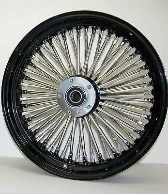 DNA MAMMOTH FAT 52 SPOKE BLACK 16x3.5 FRONT WHEEL HARLEY SOFTAIL TOURING