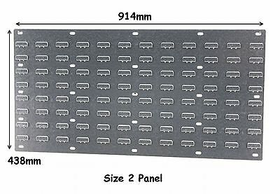 NEW Steel Louvre Wall Panel for Plastic Parts Storage Bins 438 x 914mm Free P&P
