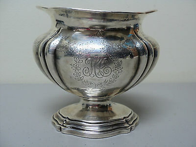 "HEAVY AMERICAN ""J.E.CALDWELL & Co."" STERLING SILVER ENGRAVED WASTE BOWL / DISH"
