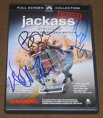 Bam Margera Steve O Wee Man Signed Jackass The Movie Collector's Edition Dvd