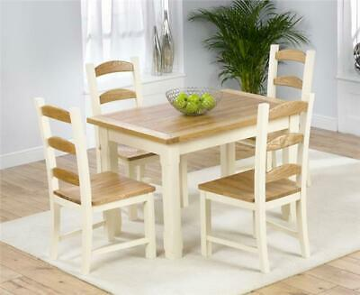 Riverside Painted Oak  Furniture 130cm Table and 4 Townsville Chairs Set